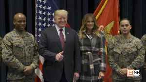President Donald Trump and First Lady Melania Trump Visit Marine Barracks [Video]