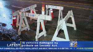 18 Vehicles Damaged By Massive, Nightmare Pothole [Video]