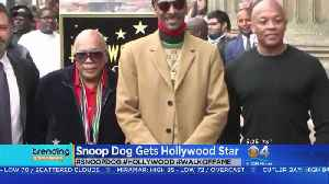 Trending: Snoop Dog Gets A Star [Video]