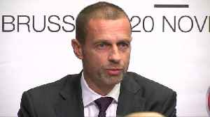 Football is not for sale, UEFA president says [Video]