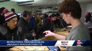 Thousands of customers show up for historic first day of pot sales [Video]
