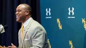 New W&M coach Mike London speaks at his introductory press conference. [Video]