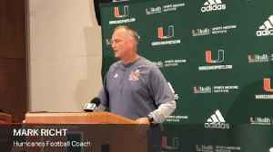 Mark Richt on the end of UM's losing streak [Video]