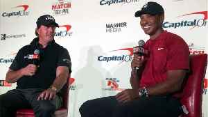 Phil Mickelson And Tiger Woods Are Betting Large On The First Hole In Their Upcoming Match [Video]