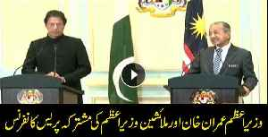 PM Imran Khan and Malaysian PM Mahathir Mohamad address media [Video]