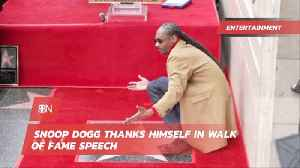Snoop Knows How To Say Thanks To Himself [Video]