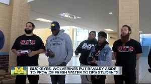 Buckeyes, Wolverines combine forces to bring water to DPS schools [Video]