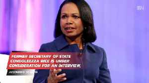 Condi Rice Is Being Considered For What Job [Video]