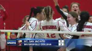BC volleyball busting out the brooms in playoffs [Video]