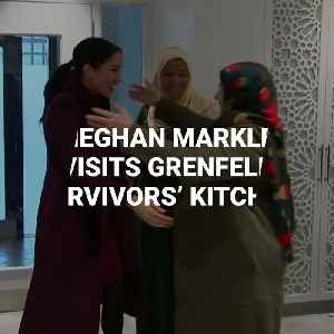 Meghan Markle Cooks With Grenfell Survivors At Community Kitchen [Video]