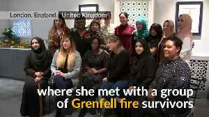 Meghan Markle meets Grenfell fire survivors in community kitchen [Video]