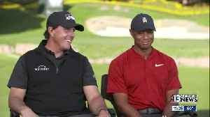 Phil Mickelson, Tiger Woods speak exclusively with ABC before Las Vegas tournament [Video]