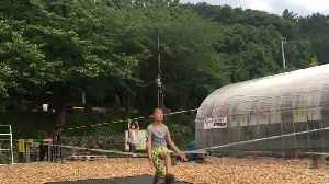 Kid Shows Amazing Tricks on Slackline Rope [Video]