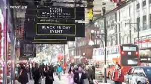 London's Oxford Street gears up for Black Friday [Video]