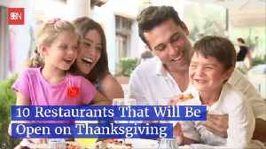 Restaurant Choices Open On Thanksgiving [Video]