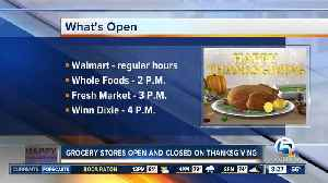 Which grocery stores are open, closed on Thanksgiving? [Video]