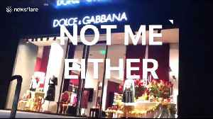 News video: Furore in China after Dolce & Gabbana founder allegedly uses poo emoji to describe country