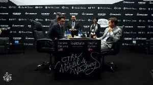 Reigning champion Carlsen all square with Caruana after game 10 of World Chess Championships [Video]