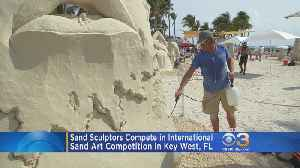 Sand Sculptors Compete In International Art Competition In Key West [Video]
