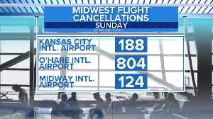 Flight cancellations and delays continue amid Midwest winter storm [Video]