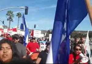 Protesters in San Ysidro, California, Rally to Support Migrants at Border [Video]