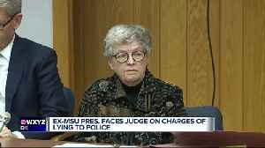 Former MSU President Lou Anna Simon arraigned on charges related to Nassar scandal [Video]