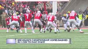 Michigan's championship hopes dashed by loss to Ohio State [Video]