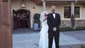 Bearded best mate traded places with his bride [Video]