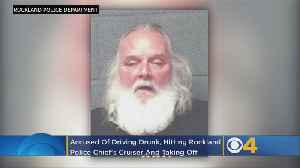 Allegedly Drunk Driver Hits Police Chief's Cruiser, Doesn't Stop [Video]