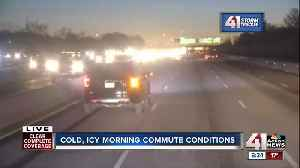 Departments of transportation expect slick spots on MO, KS roads Tuesday morning [Video]
