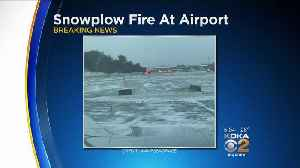 Snow Plow Catches Fire At Pittsburgh International Airport [Video]
