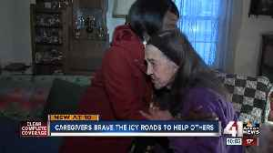 Snow & ice can't stop caregivers [Video]