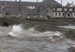 Flooding in Anglesey Village as Storm Diana's Winds Sweep Wales [Video]