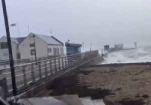 Wind, Waves Pound Lifeboat Station on Anglesey Island [Video]