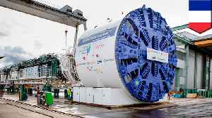 The first tunnel boring machine arrives for the Grand Paris Express [Video]