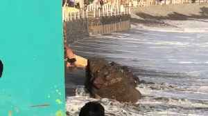 Surfer Gets Unexpectedly Pounded by Waves [Video]