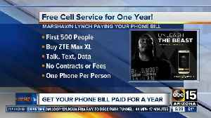 Marshawn Lynch offering free cell phone service for a year [Video]