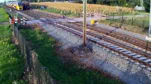 Cyclist Narrowly Missed By Train At Level Crossing [Video]