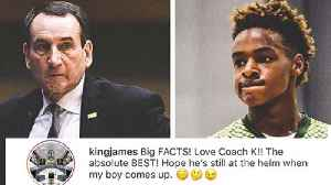 LeBron James Hints That Duke Will Be Bronny JR's College Ball Future [Video]