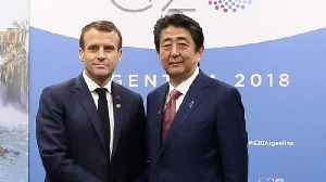 France's Macron Meets Japan's Abe In Hopes Of Salvaging Renault-Nissan Deal [Video]