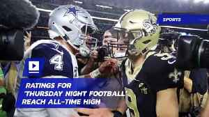 Ratings for 'Thursday Night Football' Reach All-Time High [Video]