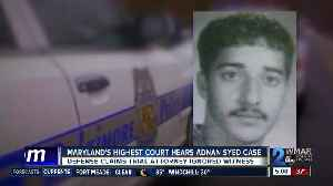 Attorneys argue Adnan Syed alibi in Court of Special Appeals [Video]