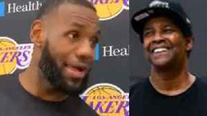 LeBron James Reacts To Lakers Getting Pep Talk from Denzel Washington [Video]