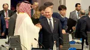 Putin, Crown Prince Mohammed bin Salman greet each other with huge smiles, handshake at G-20 [Video]