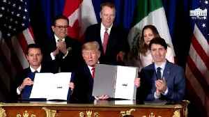 Why Trump's Signature Stands Out On The US-Mexico-Canada Trade Document [Video]