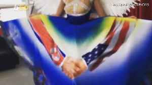 Miss Universe Singapore Pays Tribute to World Peace in Unusual Trump-Kim Dress [Video]