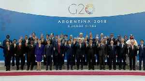 World leaders pose for photo on first day of G-20 [Video]
