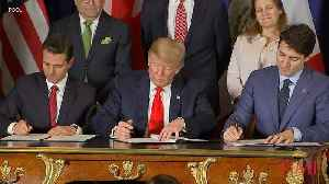 President Trump Signs New Trade Pact With Canadian Prime Minister Trudeau and Mexican President Pena Nieto [Video]