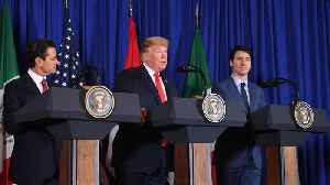 Trump Admits To Trading 'Barbs' With Mexico, Canada At USMCA Trade Pact Signing Ceremony [Video]