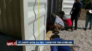 Bayshore HS students build container homes for homeless [Video]